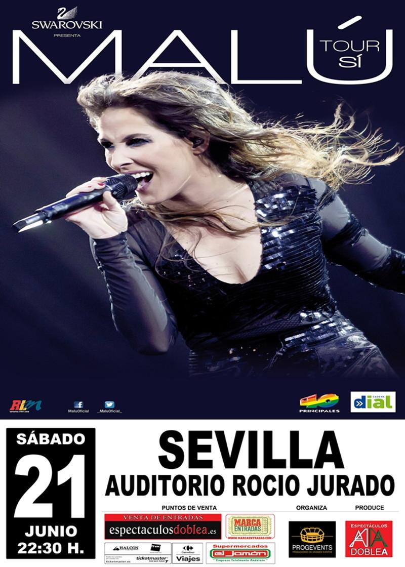 Malú en concierto, Sevilla 2014