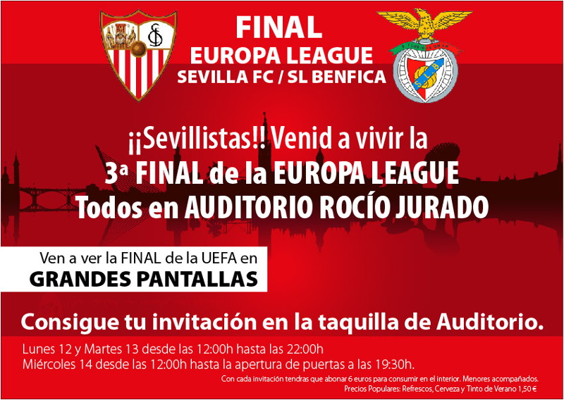 Final Europa League 2014 Sevilla Benfica Auditorio Rocío Jurado