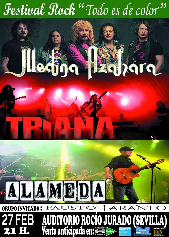 cartel festival rock andaluz -todo es de color-