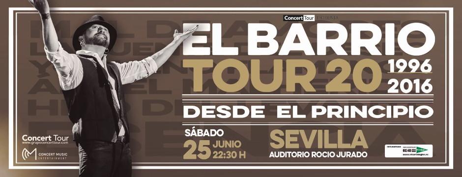 El Barrio, Tour 20 Desde el Principio. Sábado 25 de Junio de 2016. Auditorio Rocío Jurado.