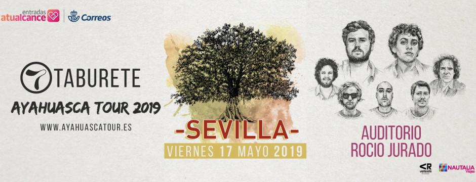 Taburete, Ayahuasca Tour 2019. Viernes 17 de Mayo de 2019. Auditorio Rocío Jurado.
